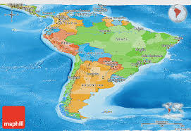 america map political political panoramic map of south america physical outside
