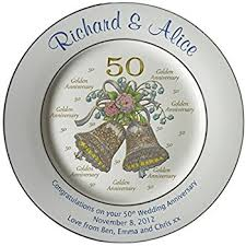 50th wedding anniversary plates personalized bone china commemorative plate for a 60th