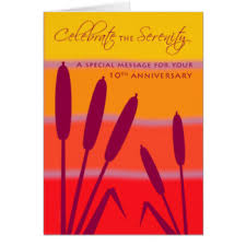 10 Year Anniversary Card Message 10 Year Gifts On Zazzle
