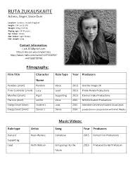 Free Acting Resume Template Acting Cv Template Professional Architect Cv Sample Actor Cv