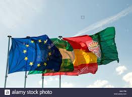 Christopher Columbus Flag Andalusian Flag Stockfotos U0026 Andalusian Flag Bilder Alamy