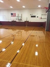 Hardwood Floor Coating This Floor We Did For Another Local School District Using Buckeye