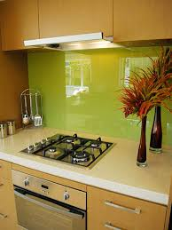 kitchen lime green kitchen with glass backsplash and mini