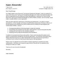 Sample Email Message With Attached Resume by Best Training And Development Cover Letter Examples Livecareer