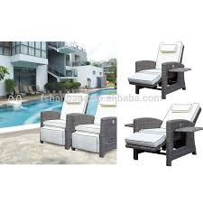best outdoor rattan garden multi position 2 person reclining bed