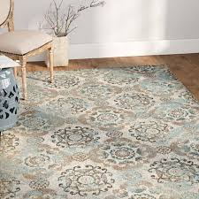 Brown And Grey Area Rugs Ophelia Co Raquel Machine Woven Teal Silver Gray Area Rug