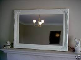 gloss white large shabby chic antique style mirror 26