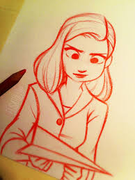 meg from paperman a quick sketch i made yesterday afternoon