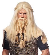 viking warrior hair barbarian viking thor caveman warrior adult mens male costume wig