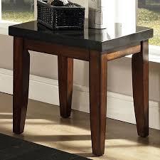 granite top end tables steve silver granite bello granite top end table walker s