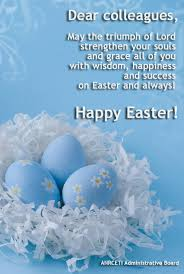 happy easter dear administrative board wishing you happy easter with new joys and