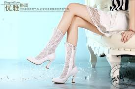 wedding shoes chunky heel 2017 new white lace beading cheap wedding boots chunky heel bridal