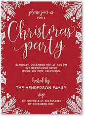 holiday invitations u0026 holiday party invitations shutterfly