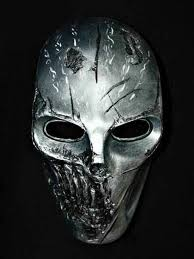 Metal Halloween Costumes Silver Metal Scary Mask Mask Scary Masking Rpg