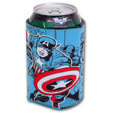 huggie drinks gaggifts captain america comics can huggie