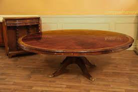 extra large round mahogany perimeter table and buffet large round transitional dining table for 6 to 12 people