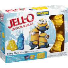 Jello Halloween Molds Instructions by Jell O Minions Berry Blue Lemon Jigglers Mold Kit 6 Pc Walmart Com