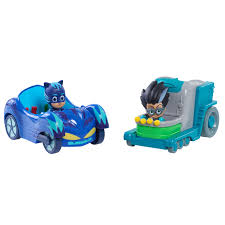 pj masks cat car romeo u0027s lab 2 pack vehicle toys