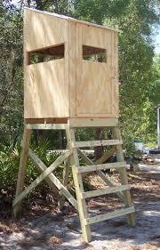 hunting blind on stand elevated tower platform deer turkey hog