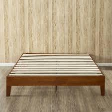 king size modern low profile solid wood platform bed frame in