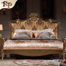 Rococo Bed Frame 2018 Italian Luxury Bed Rococo Bedroom Furniture Solid Wood