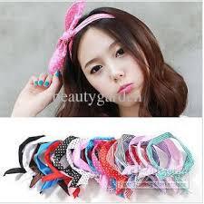 1950s headband vintage 1950s style headband headwear rabbit hairband scarf hair