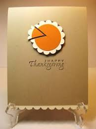sweet and simple thanksgiving card just use punches or dies
