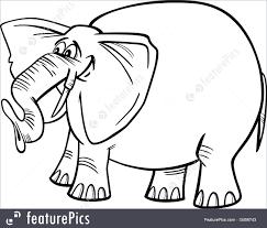 wildlife animals elephant cartoon for coloring stock