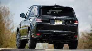 black range rover wallpaper 2015 range rover sport svr us spec santorini black rear hd