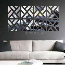 mirror decals home decor geometric diy 3d mirror wall decal set sticker art decals mural