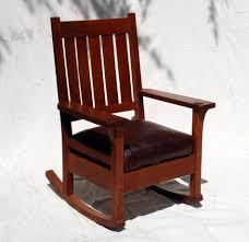 Oak Rocking Chairs Voorhees Craftsman Mission Oak Furniture Early Gustav Stickley