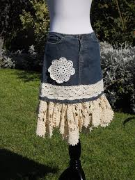 Shabby Chic Skirts by 26 Best Diy Clothes Images On Pinterest Jean Skirts Lace Jeans