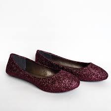 wedding shoes flats burgundy flats glitter shoes maroon ballet flats