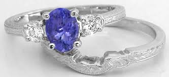 natural tanzanite rings images Past present future tanzanite engagement ring with white sapphires jpg