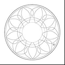 simple mandala coloring sheets heart pages pdf easy seniors simple