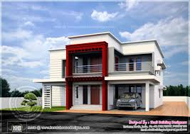luxury flat roof house design indian plans architecture plans