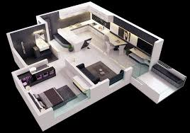marvellous design small modern house plans in 3d 9 25 one bedroom