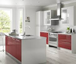 b q kitchen ideas high gloss red and white kitchen ideas pinterest red and