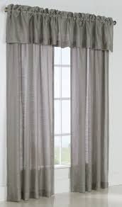 Linen Valance Mist Stripe Semi Sheer Rod Pocket Panel Ensemble