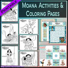 free printable moana activities and crafts skgaleana