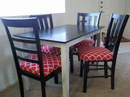colorful reupholstered dining chairs with table interior