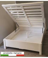 letto a legno massello letto cassettone contenitore in legno massello matrimoniale o