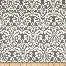 shannon minky cuddle damask charcoal snow discount designer