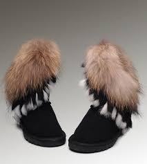 womens ugg boots fox fur ugg fox fur 8288 black boots ugg fox fur boots