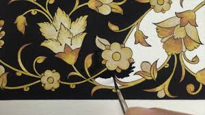 Textile Design by Speed Painting Illumination Rumi Motif Tezhip Textile