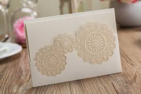 wedding invitation cards laser cut rustic doily elegant wedding
