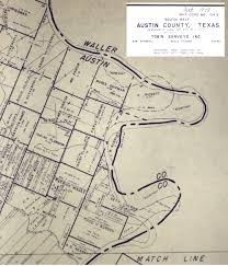 Austin County Map by James Orrick Old Three Hundred