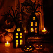 buy house on halloween wireless lamp night light halloween
