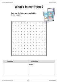 Countable And Uncountable Words Worksheet Food Cooking Efl Esl Search Worksheet Results