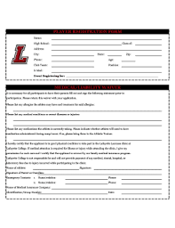 printable player registration form template word edit fill out